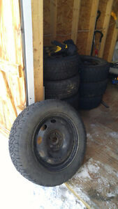 15 inch studded tires and winter rims