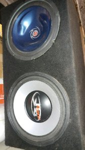 """2 -12"""" subwoofers in sealed box"""