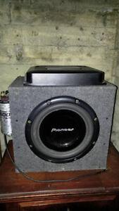 subwoofer pioneer 760w 12 po sonne très bien