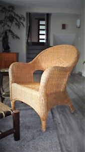 Chair wicker and rattan