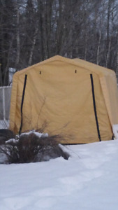 Storage shed portable parking tent