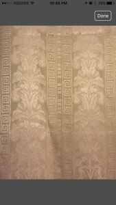 Set of 4 Gold curtains