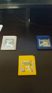 Pokemon Yellow, Blue, and Sliver. All work perfect