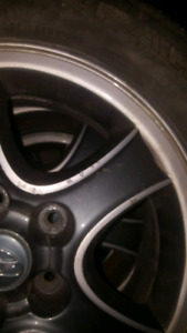 16 inch hyundai alloy rims with tires