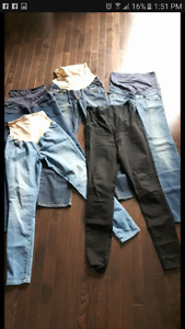 5 pairs maternity jeans