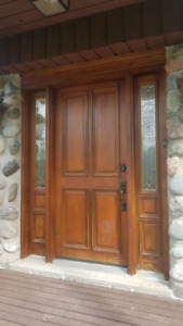 Wooden Front door - Sold PPU