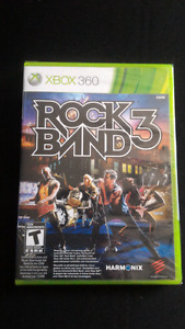 Rock Band 3 for Xbox 360 New in packaging $20 obo