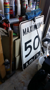 Authentic street sign for man cave