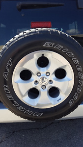 JEEP WRANGLER SET OF 5 RIMS AND TIRES