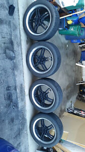 17 INCH SACCHI SUMMER TIRES AND WHEELS. Cambridge Kitchener Area image 2
