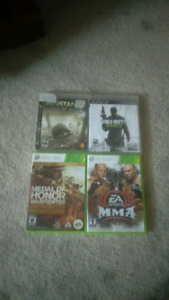 Two ps3 and two Xbox 360 games