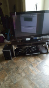 "Selling 42"" TV with stand, not smart TV"
