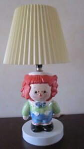 Vintage Raggedy Andy Lamp