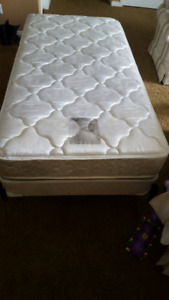 Single bed comes with boxspring and frame