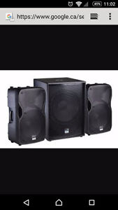 Dj Pa speakers