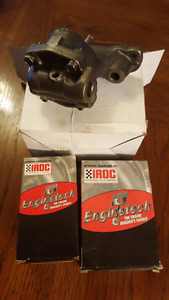 Sbc main and rod bearing set hv oil pump new