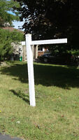PVC Real Estate Sign Posts with rider clips