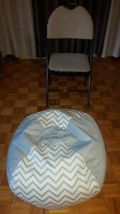 chair and pouf