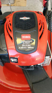 TORO recycler gas lawn mower with smart stow-  like new
