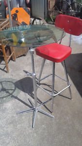 cool custom bistro table comes with 1 retro chair
