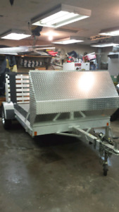 """2014 63""""x 10' aluminum utility trailer with front shield"""
