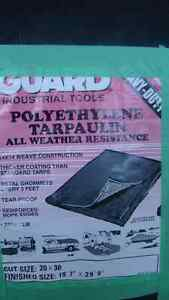 NEW BLACK HEAVY DUTY GUARD TARP 14 X 14 mesh weave