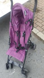 Purple single pushchair