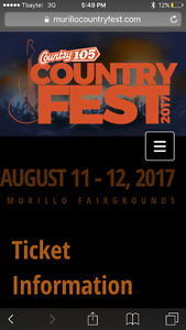 Looking for VIP Murillo CountyFest tickets