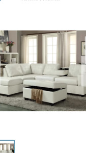 White leather sectional. *brand New *