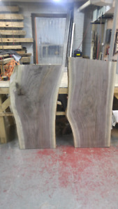 Black Walnut Live Edge Slabs * Planed Flat *