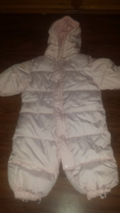 6-12 month pink baby snow suit