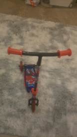 Spiderman childrens 3 wheeled first scooter