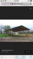 Wanted pole shed construction  40 x 60 x12