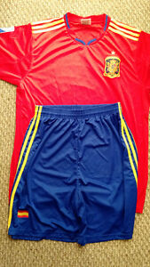 Spain Scarf and Soccer Uniform $30