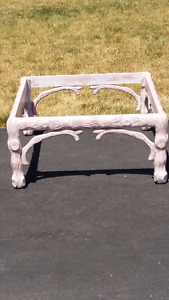 Bleach glass top wooden Coffee Table