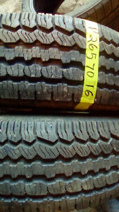 Two Like new BF Goodrich 265 70 16 M+S tires.