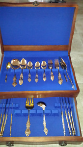 Gold Plated Silver ware set