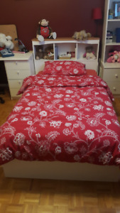 Twin mattress, box , head board with side bedside table for sale
