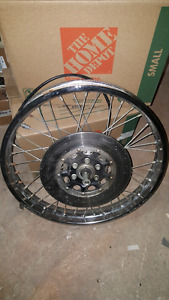 Front wheel, disk with axle, speed sensor 1973 honda cb500 four