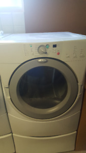 Whirlpool Duet Dryer with pedestal; good condition