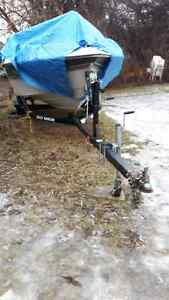 BOAT AND BOAT TRAILER FOR SALE; BOAT AS IS CONDITION