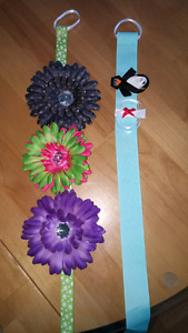 Hair clips, flower and winter
