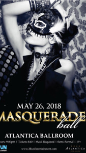 Masquerade ball  Sat night 2 tickets for sale