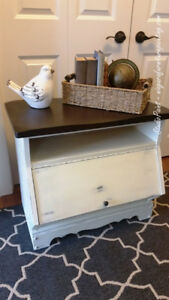 Farmhouse Painted and Refinished Media Cabinet/End Table