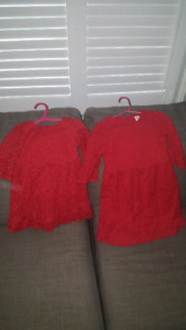 Girls Gap red lace matching party dresses
