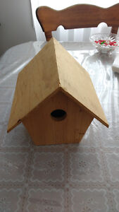 Wooden bird house  you can paint it any color you want