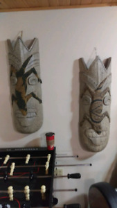 Two stunning VERY LARGE tribal wall hangings.