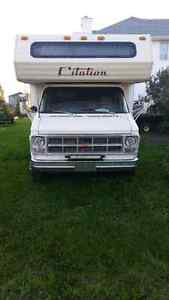 1982 gmc citation 22 foot motor home