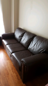 Brown Leon's leather couch