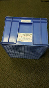USED PLASTIC STACKING BINS. STORAGE BINS & TOTES. OVER 55% OFF London Ontario image 3